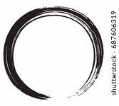 black zen circle brush vector... | Shutterstock .eps vector #687606319