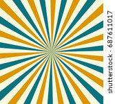 sunburst pattern. sunburst... | Shutterstock .eps vector #687611017