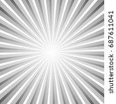 sunburst pattern. sunburst... | Shutterstock .eps vector #687611041