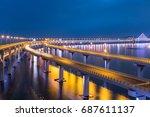 Illuminated Xinghai Bay Cross...