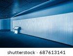 modern building hallway with... | Shutterstock . vector #687613141