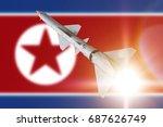 rocket in flight  background... | Shutterstock . vector #687626749