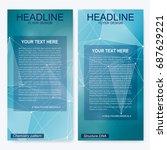 leaflet flyer layout. magazine... | Shutterstock .eps vector #687629221