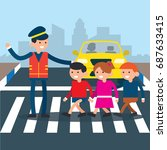 road safety campaign... | Shutterstock .eps vector #687633415