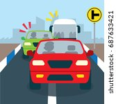 road safety campaign... | Shutterstock .eps vector #687633421