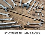 conceptual image of hardware... | Shutterstock . vector #687656491