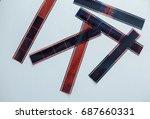 film tape roll isolated white... | Shutterstock . vector #687660331