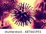 3d illustration of a influenza... | Shutterstock . vector #687661951