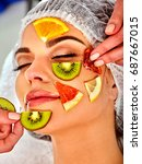 facial mask from fresh fruits... | Shutterstock . vector #687667015