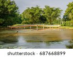 taiping lake located in... | Shutterstock . vector #687668899