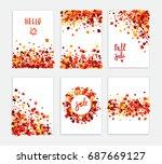 autumn sale vector creative six ... | Shutterstock .eps vector #687669127