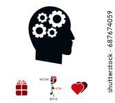 gear in hand icon  vector best...   Shutterstock .eps vector #687674059