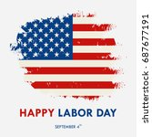 american labor day greeting... | Shutterstock . vector #687677191