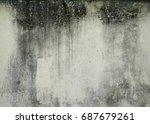 mossy wall | Shutterstock . vector #687679261