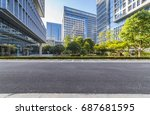 empty floor with modern... | Shutterstock . vector #687681595