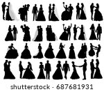 vector  isolated silhouette of... | Shutterstock .eps vector #687681931