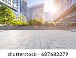 empty floor with modern... | Shutterstock . vector #687682279