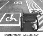 parking for the disabled  to... | Shutterstock . vector #687683569
