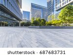 empty floor with modern... | Shutterstock . vector #687683731
