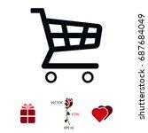 shopping chart icon  vector...   Shutterstock .eps vector #687684049
