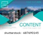 presentation layout design... | Shutterstock .eps vector #687690145