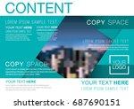presentation layout design... | Shutterstock .eps vector #687690151
