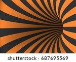 illustration of vector spiral... | Shutterstock .eps vector #687695569