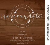 save the date card  wedding... | Shutterstock .eps vector #687700339