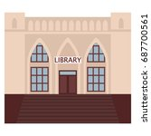 public library building icon ... | Shutterstock .eps vector #687700561