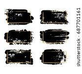 vector black paint  ink brush... | Shutterstock .eps vector #687701161