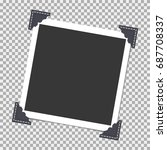 photo frame with angle  corner... | Shutterstock .eps vector #687708337