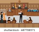 isometric people judicial...   Shutterstock .eps vector #687708571