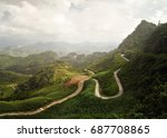 beautiful panoramic view of the ... | Shutterstock . vector #687708865