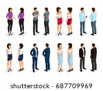 trendy isometric people 3d man ... | Shutterstock .eps vector #687709969