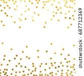 gold glitter background polka... | Shutterstock .eps vector #687712369