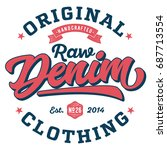 original raw denim clothing  ... | Shutterstock .eps vector #687713554