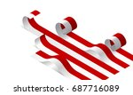 rolling flag of indonesia ... | Shutterstock .eps vector #687716089