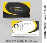 business card template. design... | Shutterstock .eps vector #687716881