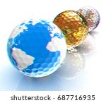 global golf winner concept with ... | Shutterstock . vector #687716935