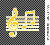 music violin clef sign. g clef... | Shutterstock .eps vector #687717709