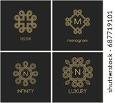 vector  logo design template... | Shutterstock .eps vector #687719101