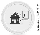 smart home flat icon. | Shutterstock .eps vector #687721189