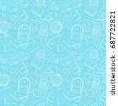 vector seamless simple pattern... | Shutterstock .eps vector #687722821