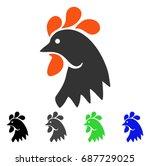 rooster head flat vector...   Shutterstock .eps vector #687729025