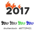 fired 2017 year caption flat... | Shutterstock .eps vector #687729421