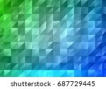 multicolor blue green geometric ...   Shutterstock .eps vector #687729445