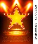 poster template star banner... | Shutterstock .eps vector #687736225