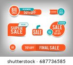 sale banner set  discount tag... | Shutterstock .eps vector #687736585