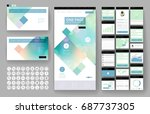 website template  one page... | Shutterstock .eps vector #687737305
