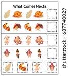 what comes next kindergarten... | Shutterstock .eps vector #687740029